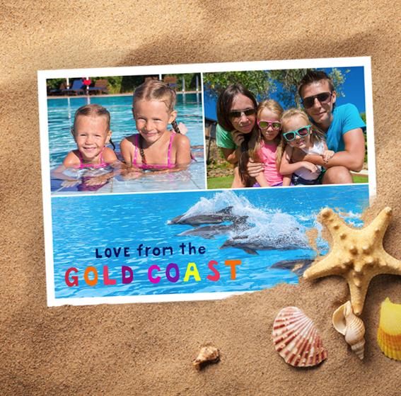 Postcard square gold coast